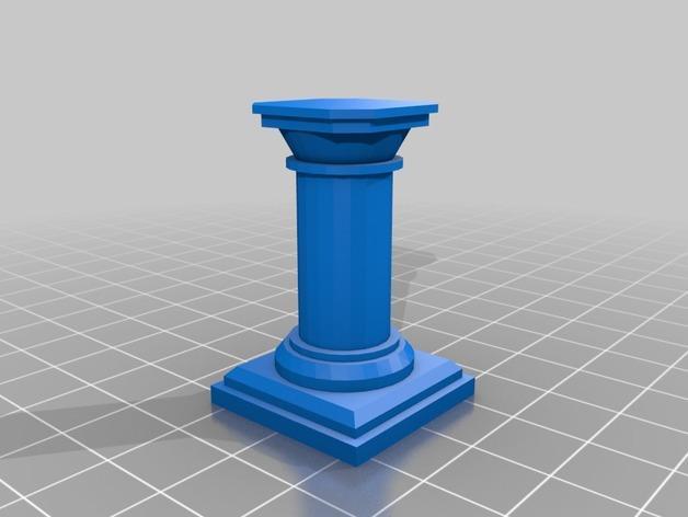 支柱 3D模型  图3