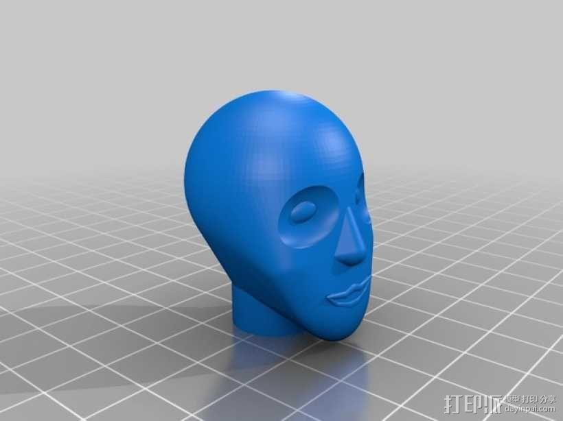 人脸 3D模型  图1