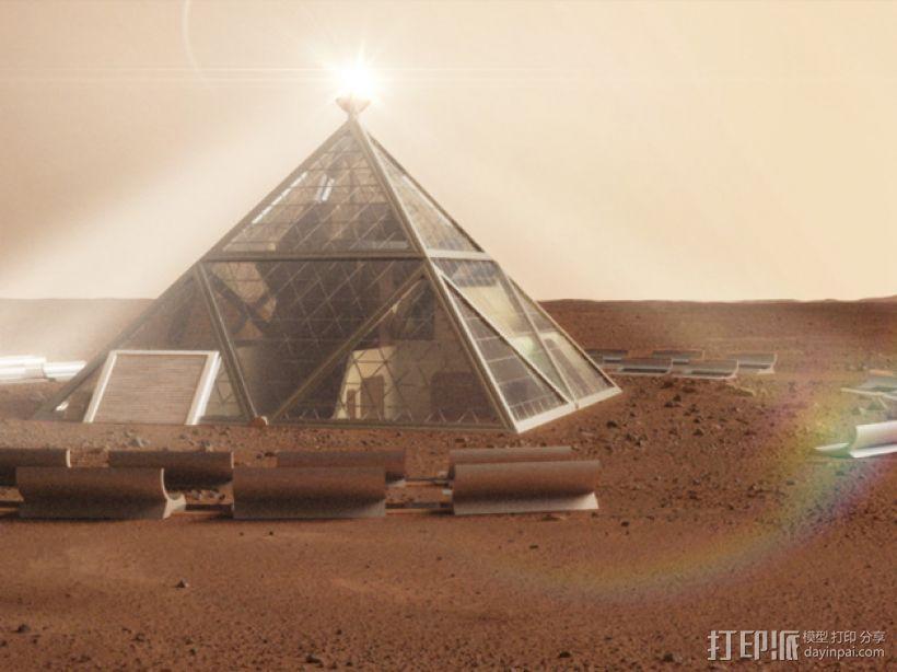 火星金字塔 3D模型  图1