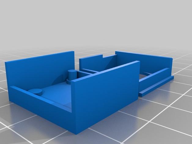 超声波声纳模块 3D模型  图1