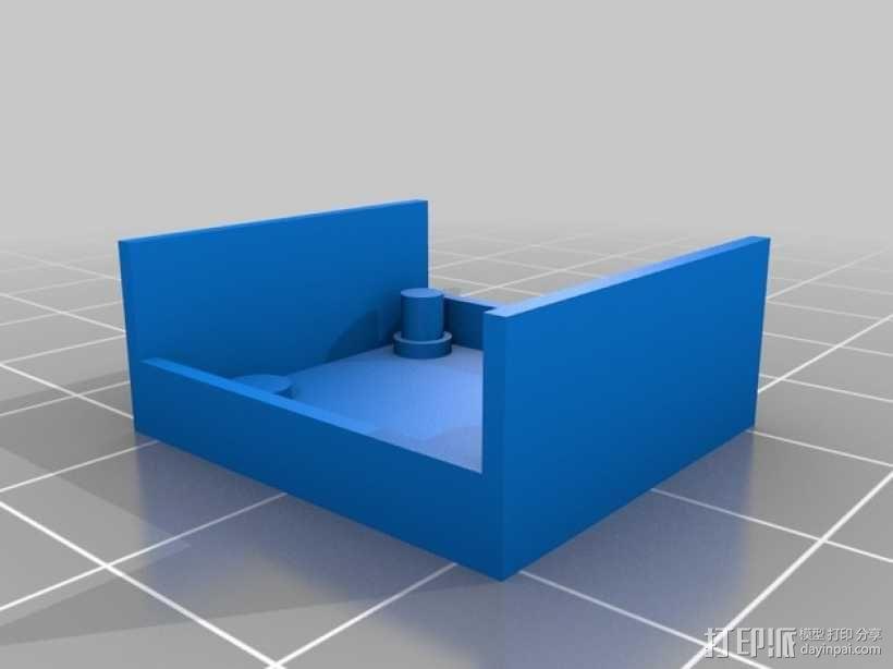超声波声纳模块 3D模型  图3