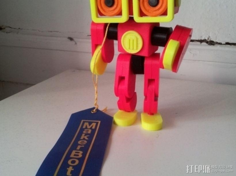 卡通机器人 3D模型  图1