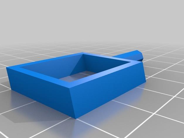 旋转搅拌叶片 3D模型  图1