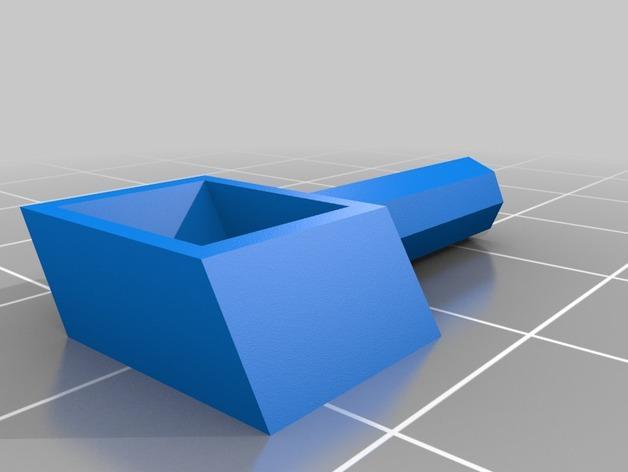 旋转搅拌叶片 3D模型  图2