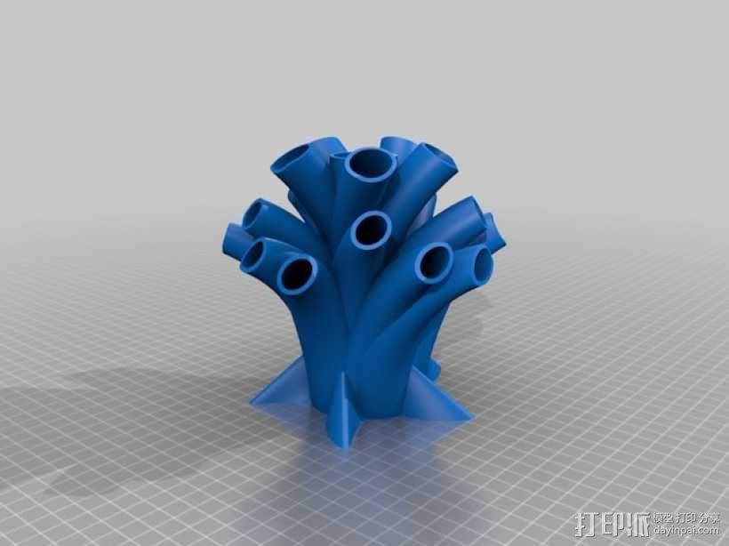 笔筒 家居摆件 3D模型  图1