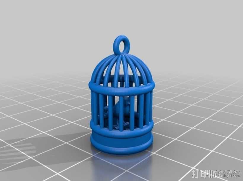 鸟笼 3D模型  图1