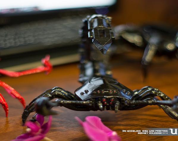 红色蝎子 3D打印制作  图1