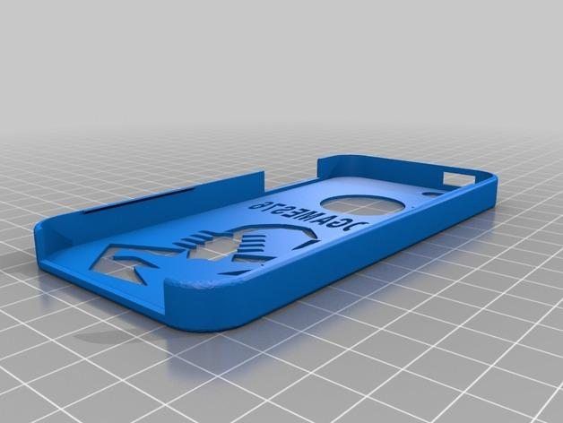 iphone 5 手机后盖 蝎子 图案 3D模型  图1