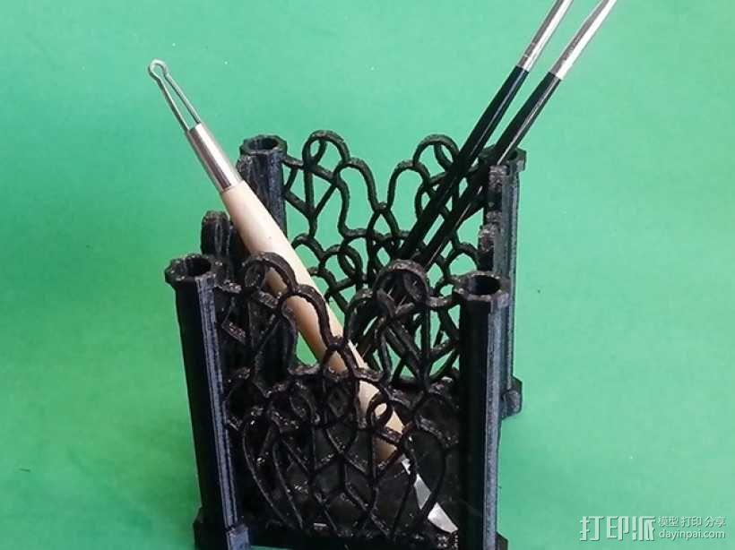 装饰盒 笔架 笔筒 3D模型  图4