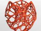 鸟巢灯罩 3D模型 图1