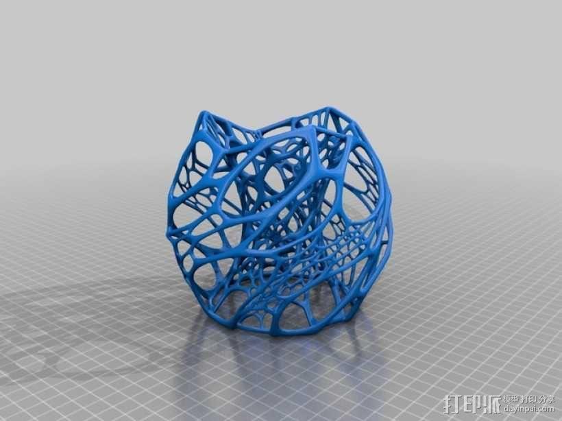 鸟巢灯罩 3D模型  图2