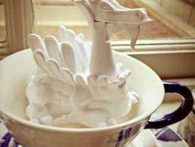 白色的龙 3D打印制作