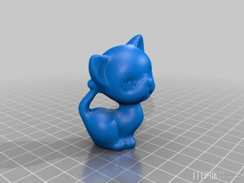 害羞的猫咪 3D模型  图1