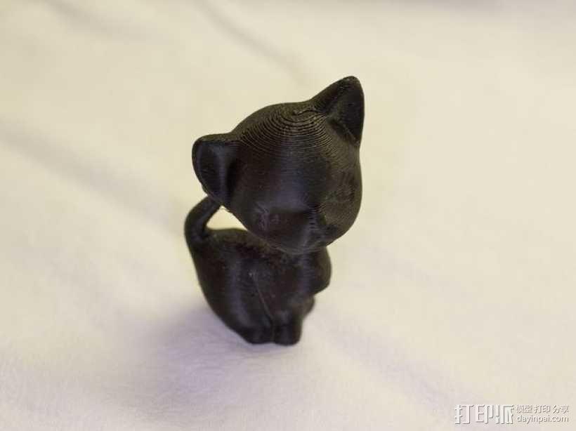 害羞的猫咪 3D模型  图2