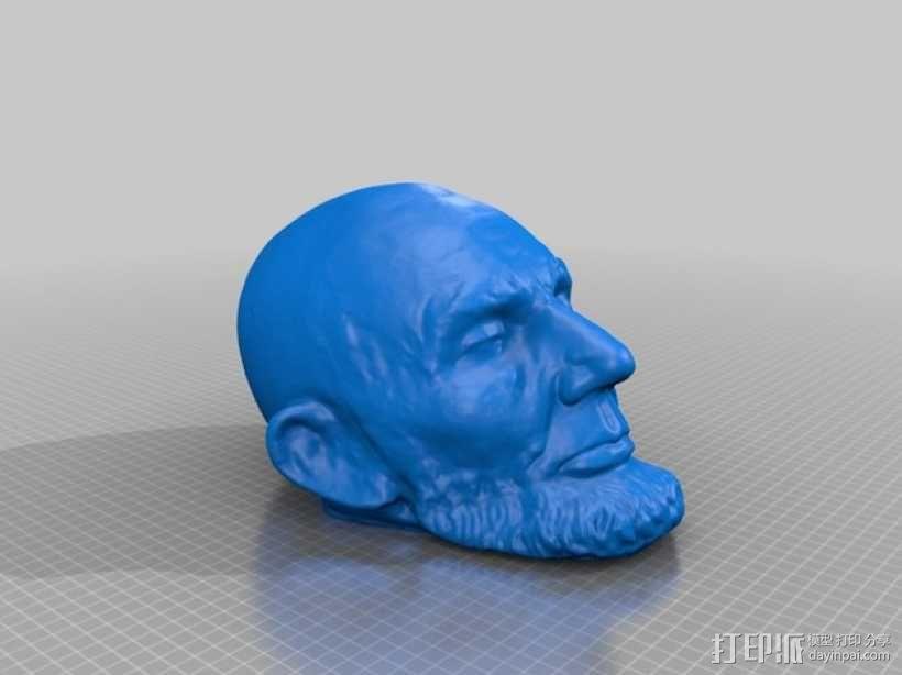 林肯雕像 3D模型  图1