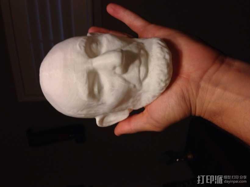 美国总统林肯白色雕像 3D打印制作  图3