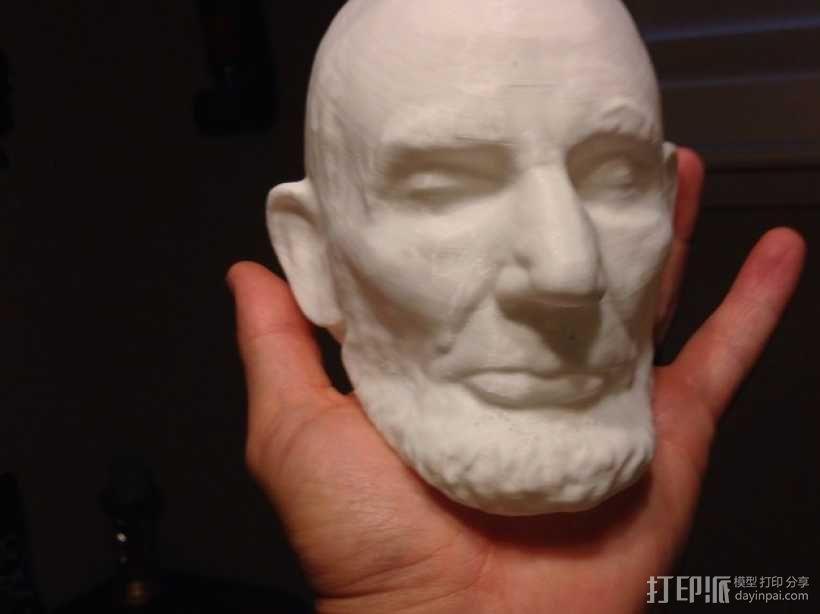 美国总统林肯白色雕像 3D打印制作  图2