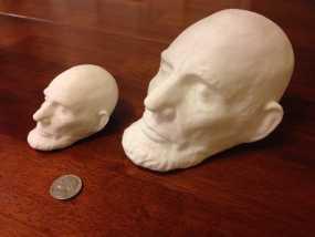美国总统林肯白色雕像 3D打印制作