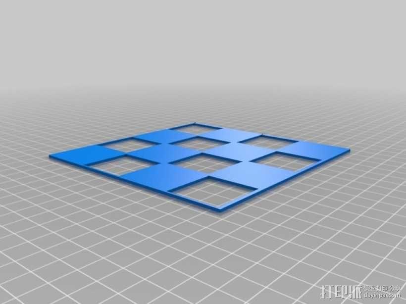 小型植物棋盘 3D模型  图1