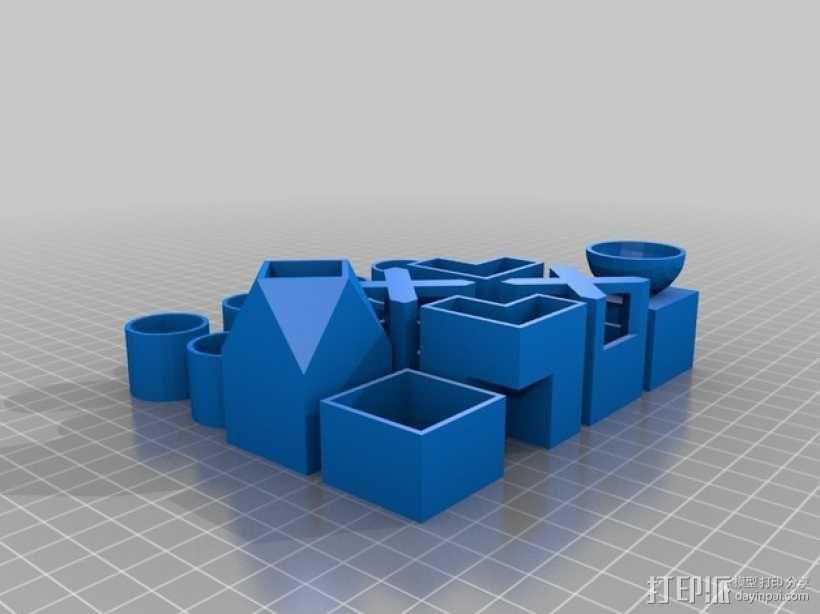 小型植物棋盘 3D模型  图2