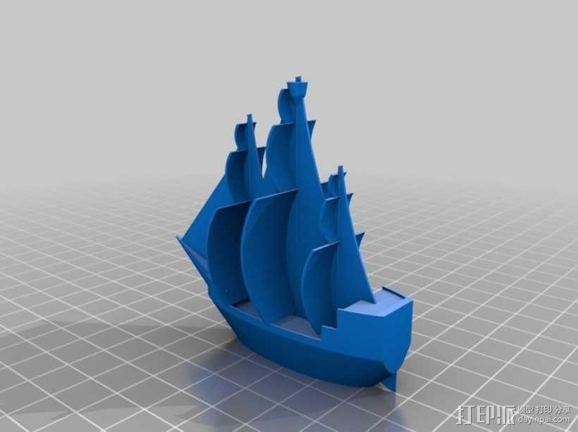 海盗船 3D模型  图1