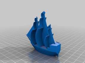 海盗船 3D模型