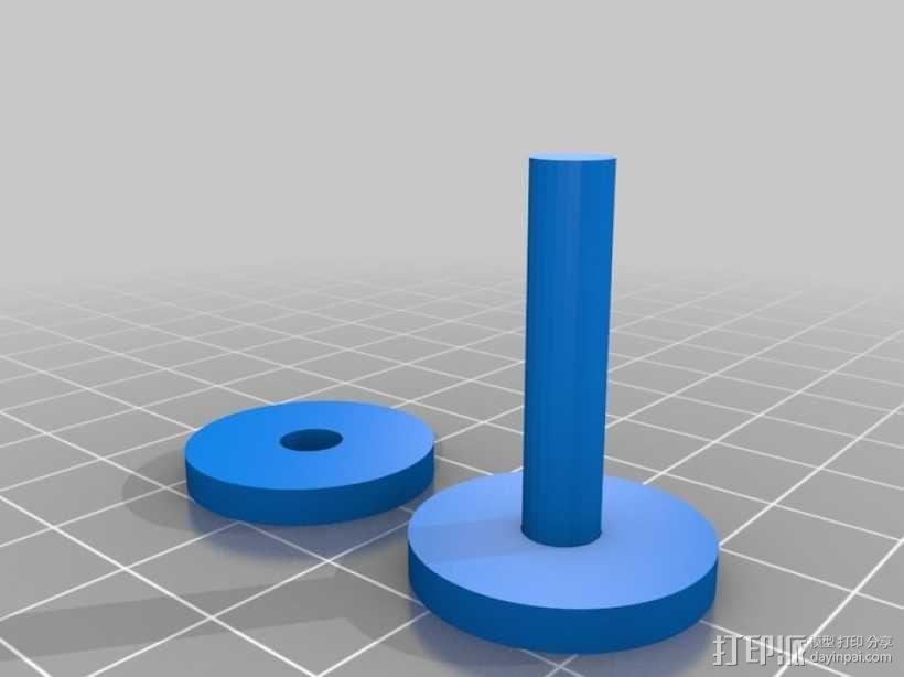乐高玩具火车 车厢导轨全套 3D模型  图1