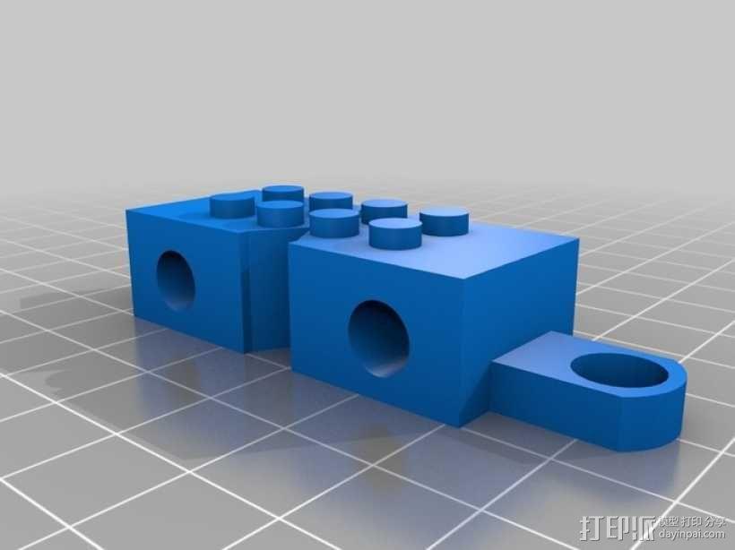乐高玩具火车 车厢导轨全套 3D模型  图2