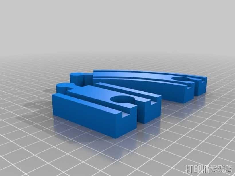 乐高玩具火车 车厢导轨全套 3D模型  图3