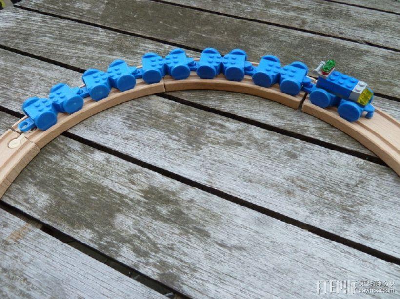 乐高玩具火车 车厢导轨全套 3D模型  图4
