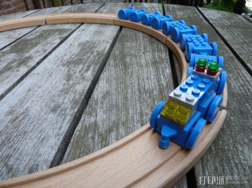 乐高玩具火车 车厢导轨全套 3D模型  图5