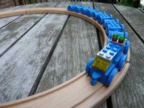 乐高玩具火车 车厢导轨全套 3D模型