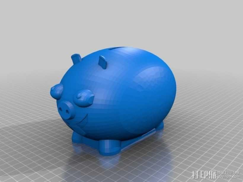 胖猪储蓄罐 3D模型  图1