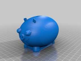 胖猪储蓄罐 3D模型