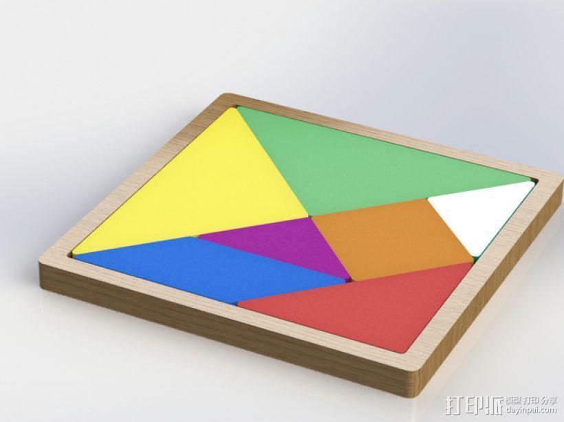 益智玩具 七巧板 3D模型  图9