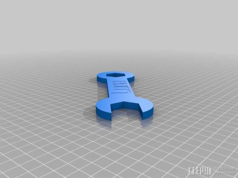 迷你版 扳手 3D模型  图1