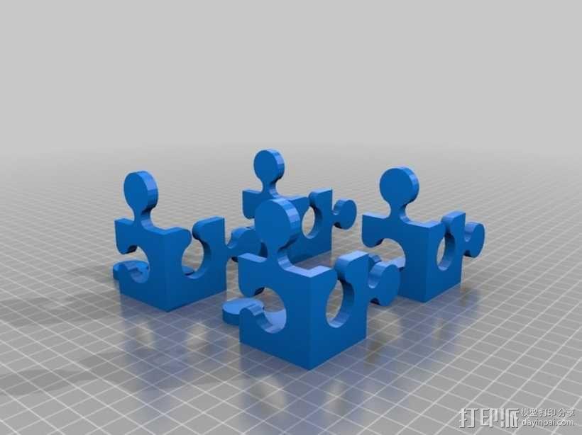 立方体拼图魔方 3D模型  图1