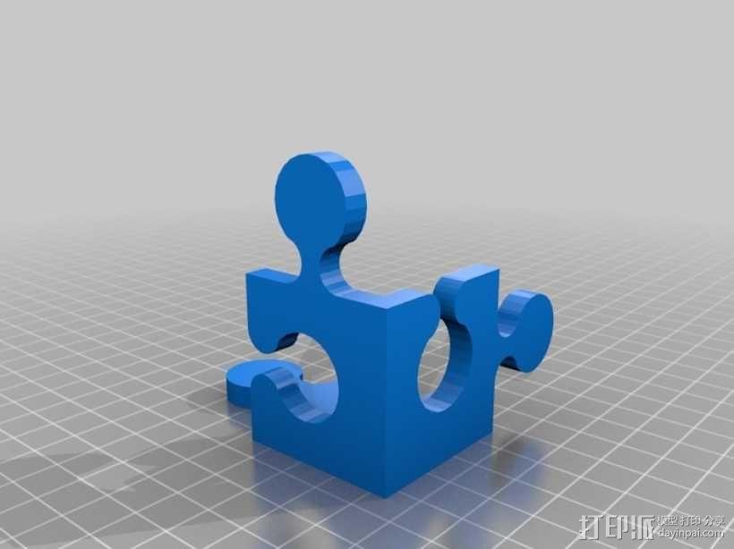 立方体拼图魔方 3D模型  图2