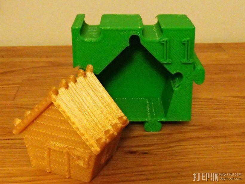姜饼屋 3D模型  图2