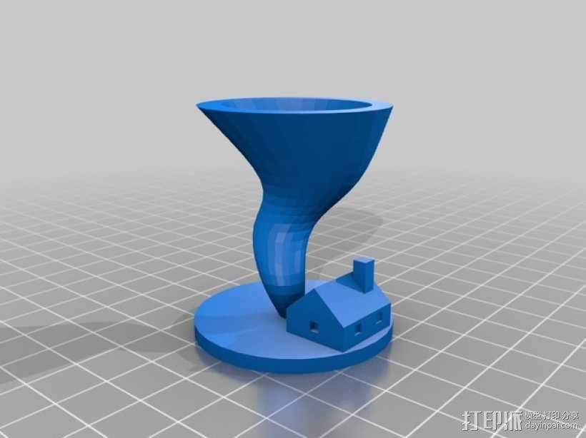 桌游旋转球模型 3D模型  图1