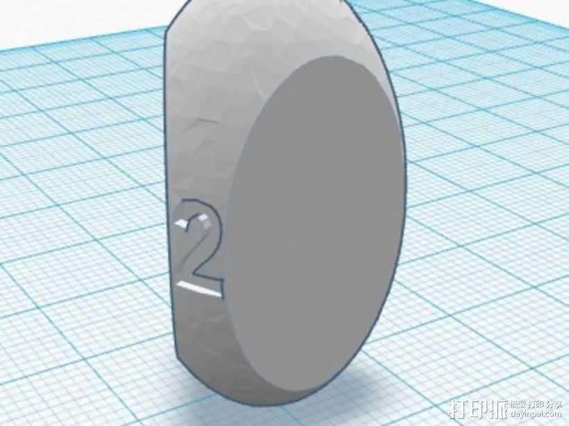 三面球形模型 3D模型  图1