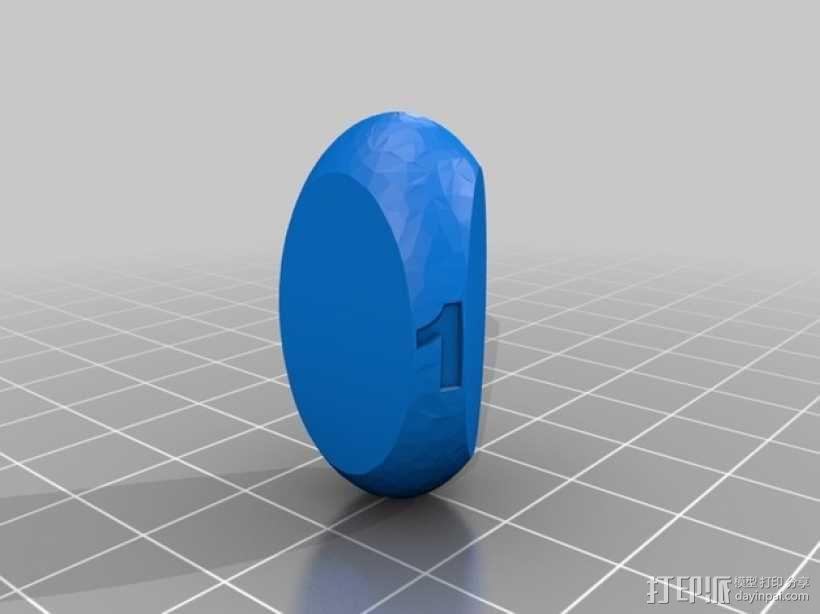 三面球形模型 3D模型  图2