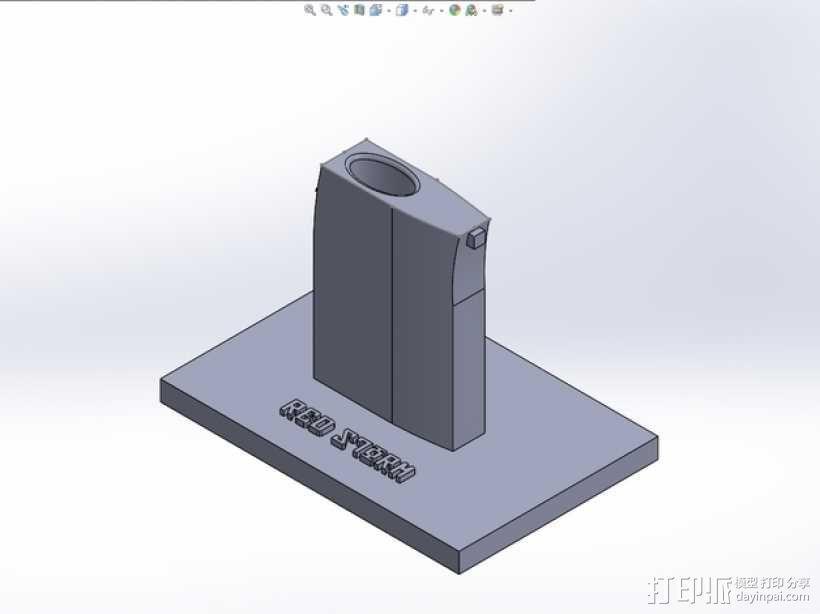 成列架模型 3D模型  图1