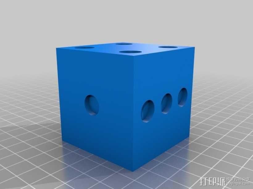 骰子模型 3D模型  图1