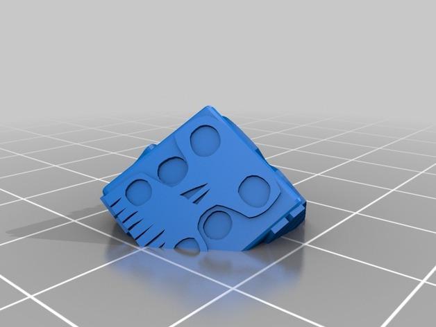 带有乌基布基头像的骰子 3D模型  图2
