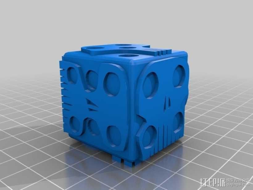 带有乌基布基头像的骰子 3D模型  图1