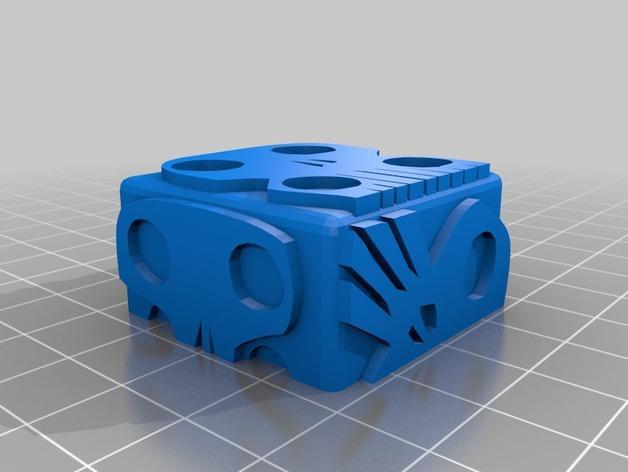 带有乌基布基头像的骰子 3D模型  图4