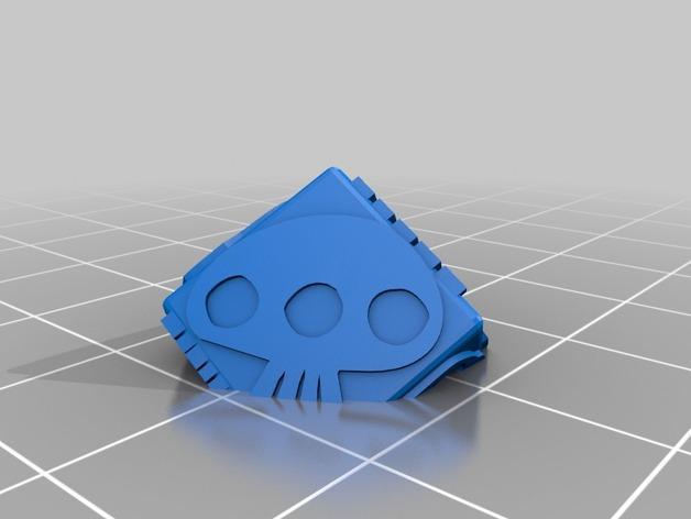 带有乌基布基头像的骰子 3D模型  图3