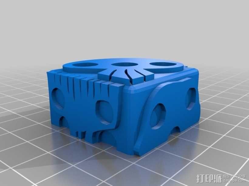 带有乌基布基头像的骰子 3D模型  图5