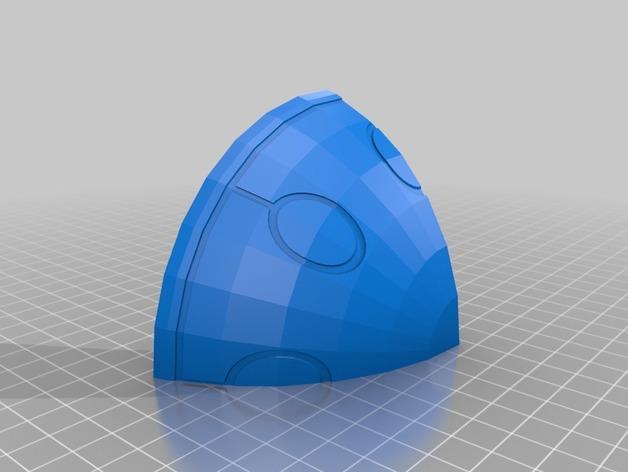 适合小型打印机的OmniSphere模型 3D模型  图2